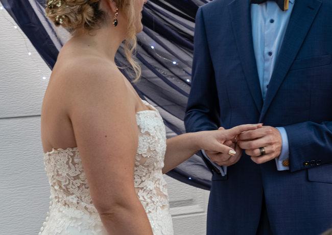 Photo du couple marier, avec anneau