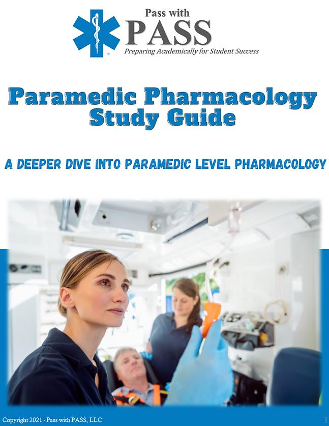 Paramedic Pharmacology Study Guide (eboo