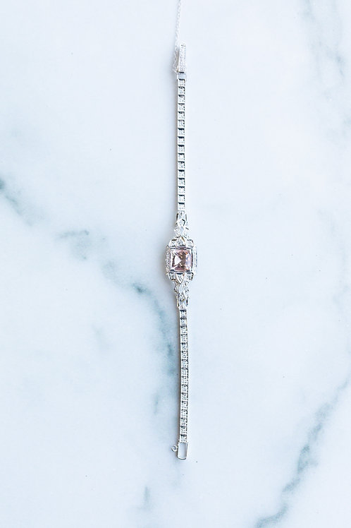 Morganite and Diamond Bracelet
