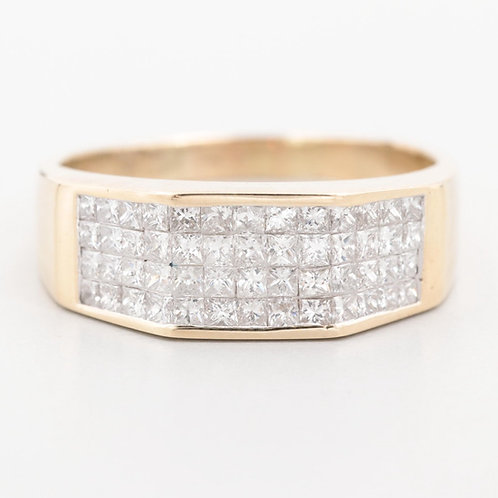 Aurora- Invisible Diamond Ring