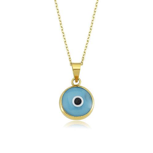 14K Evil Eye Necklace