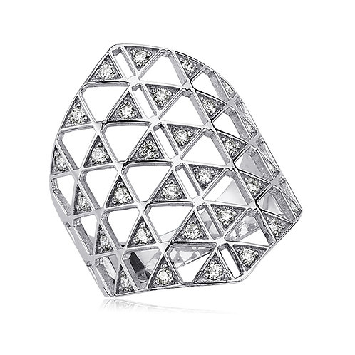 Multi Triangle Diamond Ring