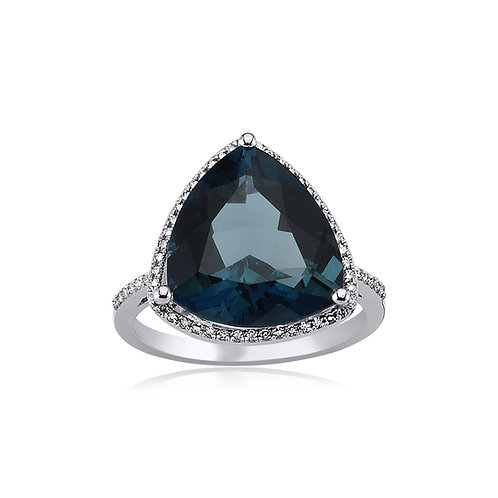 London Blue Topaz Triangle Ring