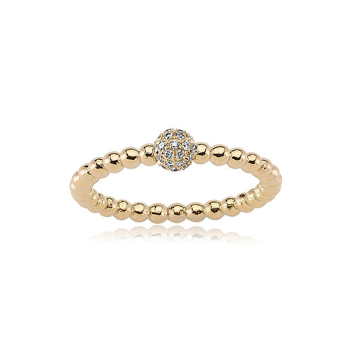 18K Diamond Ball Ring