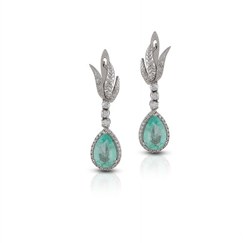Emerald and Diamond VintageEarrings