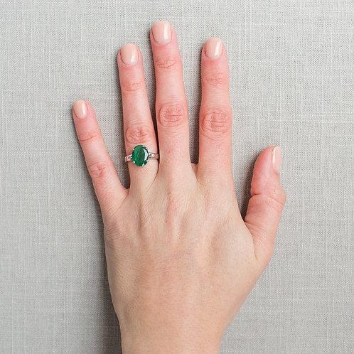 Modern Emerald Ring