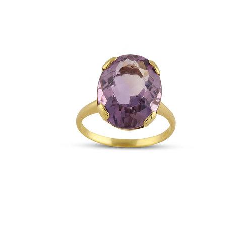 Oval Amethyst 14K Ring