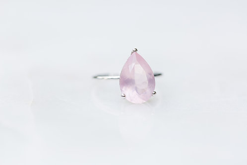 Rose Quartz Drop Ring