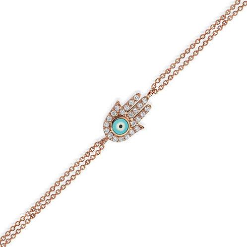 Hand of hamsa evil eye bracelet