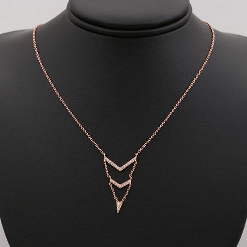 Diamond Arrow Necklace 14K Rose Gold