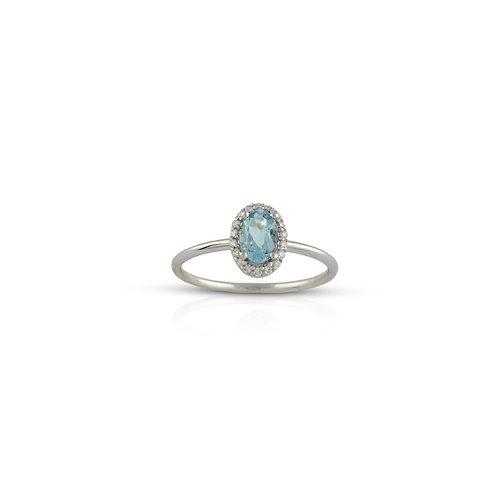 Topaz Oval Diamond Ring