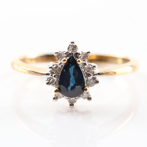 Saphire and Diamond Ring