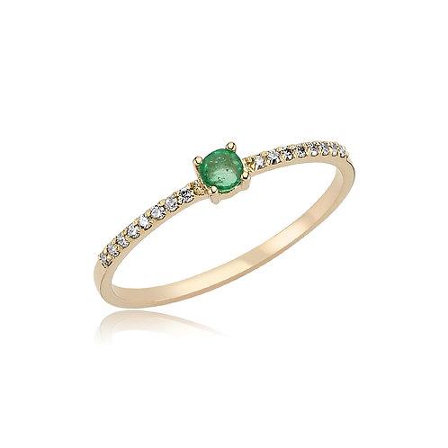 EmeraldStackable Ring