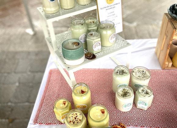 Eco friendly soy candles