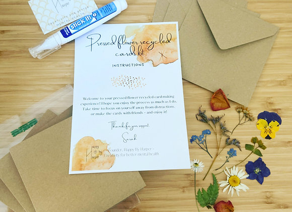 Well-being pressed flowers cards making kit