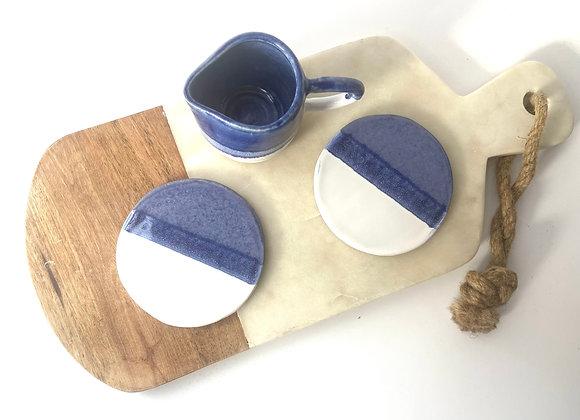 Handmade ceramic coasters (sets of 2)