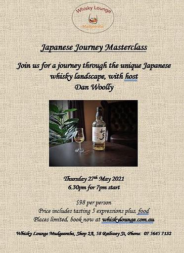Masterclass flyer - Japanese Journey  -