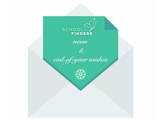 Schoolfinders-News und Jahresendwünsche (English/German)