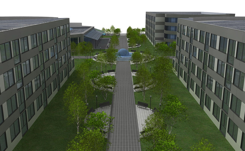 Progetto Campus Universitario con aule e Student Housing