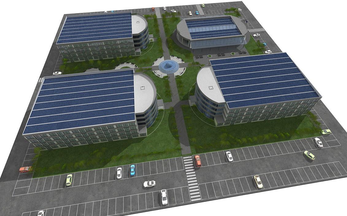 Progetto Campus Universitario con aule e Student Housing