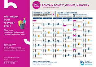 planning déchets secteur Chapelle des Bu