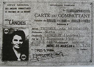 Maria Téchené Briscadieu résistante dans les Landes à Gabarret