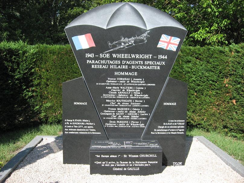 SOE WHEELWRIGHT 1943-1944 parachutages d'agents spéciaux
