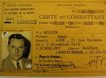 René Mougin résistant a la demi brigade de l'armagnac