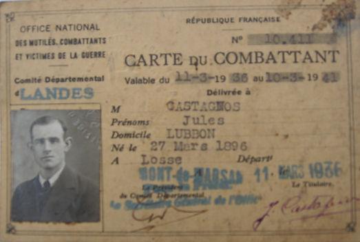 Gabriel Castagnos résistance landaise en 1943 au camp de la pluie
