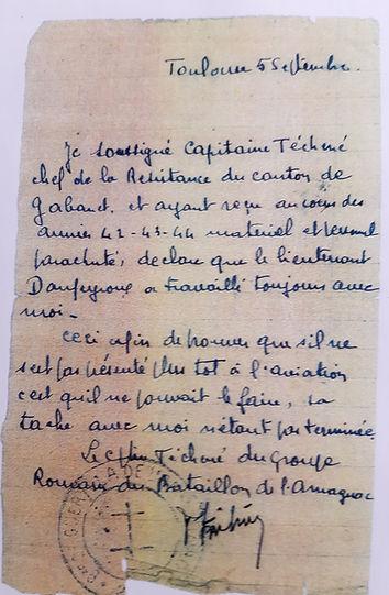 Armand Daupeyroux résistance dans les Landes