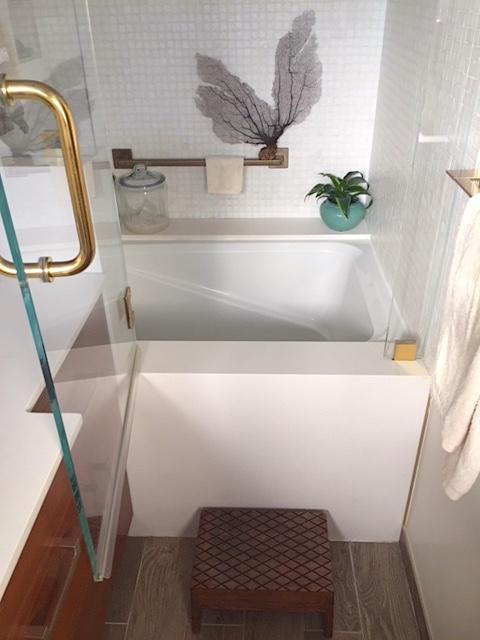 Small Bathroom step