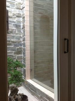 Hall Closet converted to Window to Shower & Hall