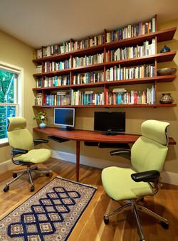 Custom Desk & Shelves for Two