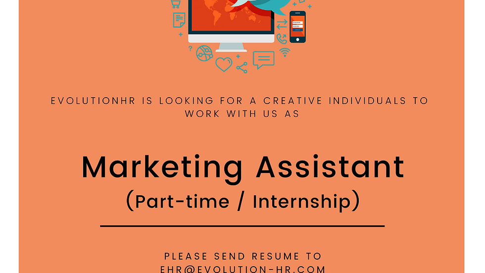 Marketing Assistant (Part-time/Internship)