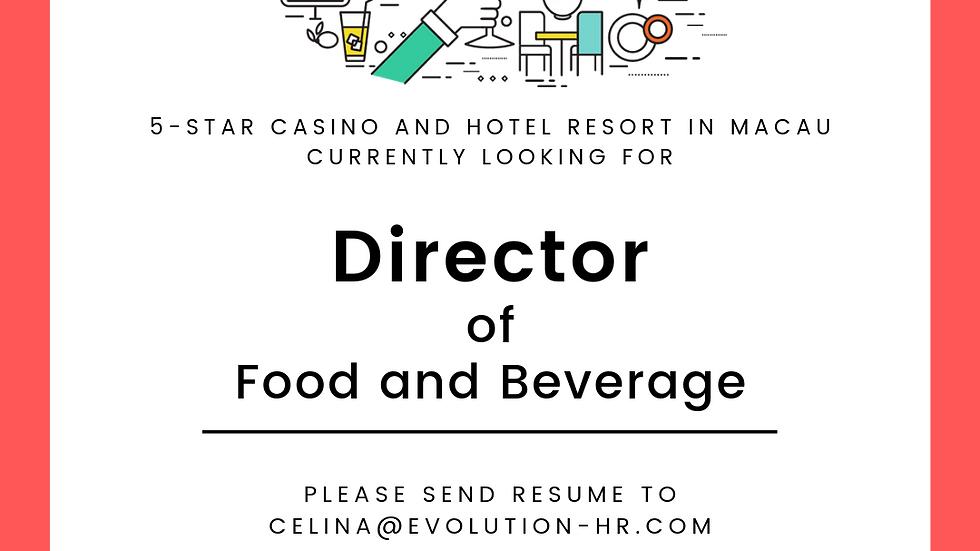 Director of Food & Beverage