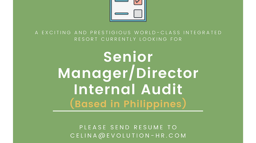 Senior Manager/Director, Internal Audit