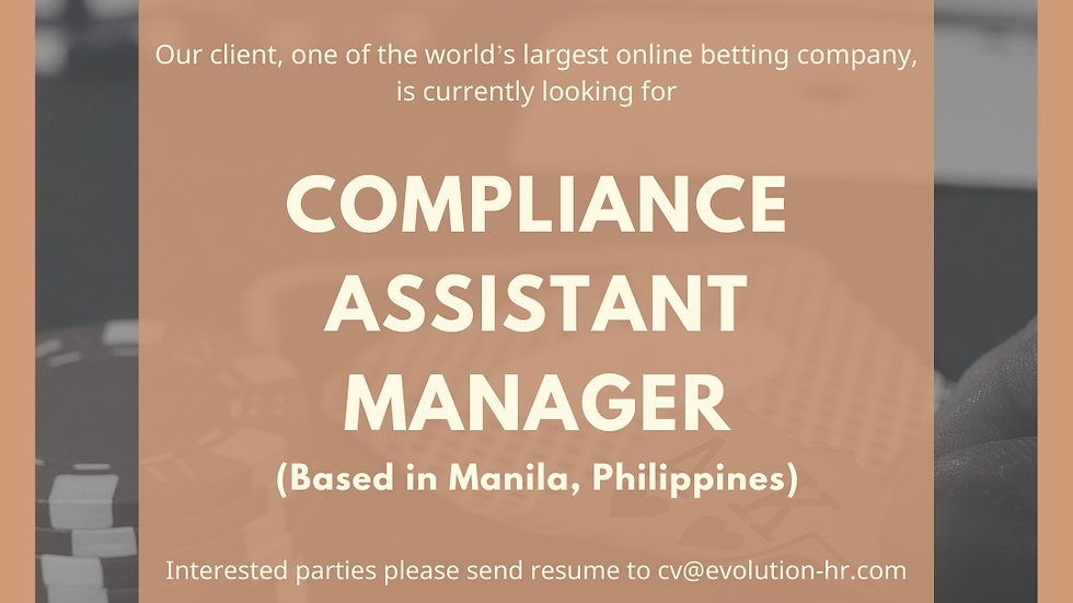 Compliance Assistant Manager