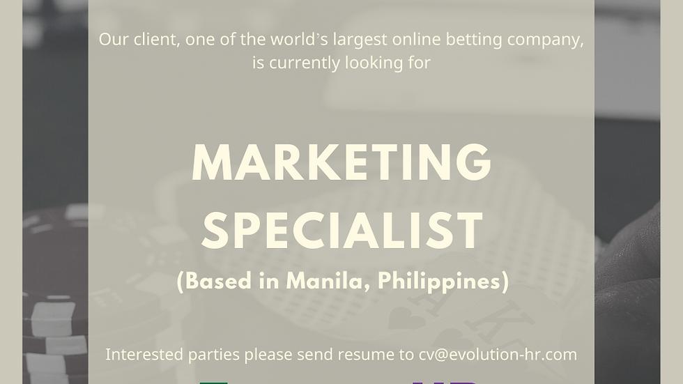 Marketing Specialist 市場營銷專員