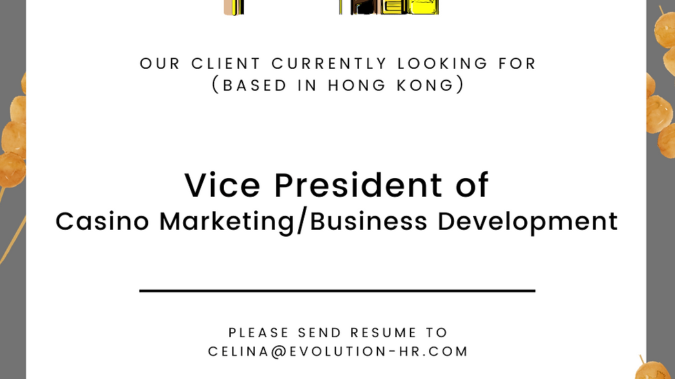 Vice President of Casino Marketing/ Business Development