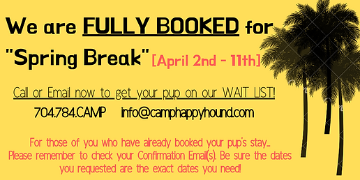 You _Spring Break_ Vacation Plans have b