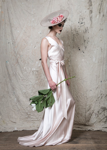 Sophia Gown Heavy Satin Pink