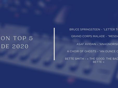 Mon Top 5 des albums de 2020
