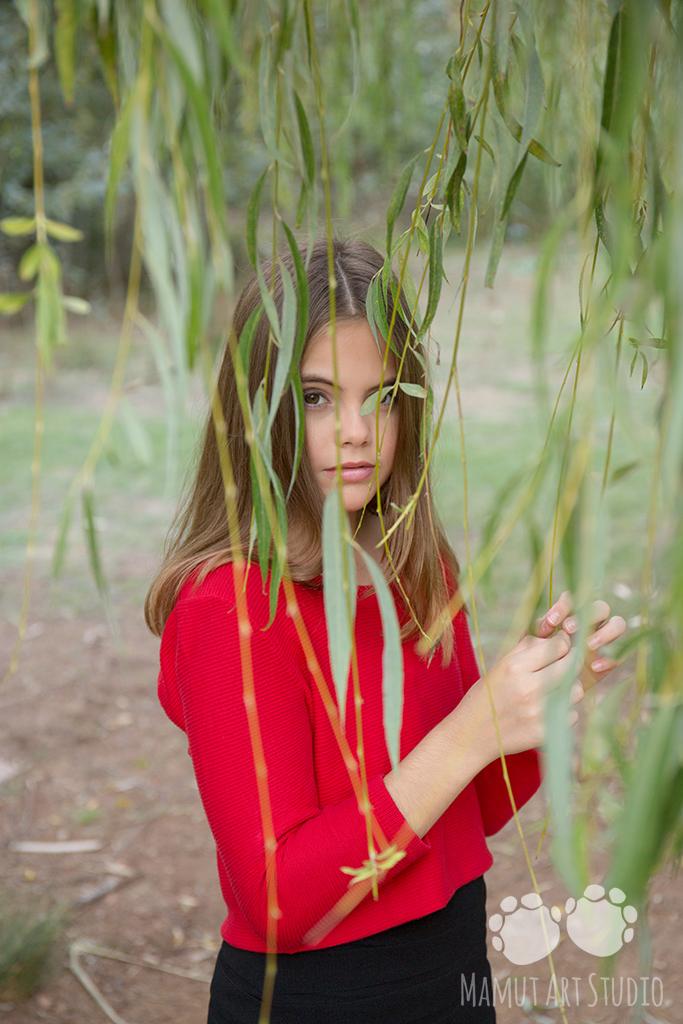 Retrato entre hojas