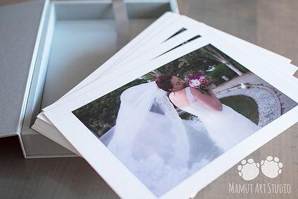 Caja láminas boda