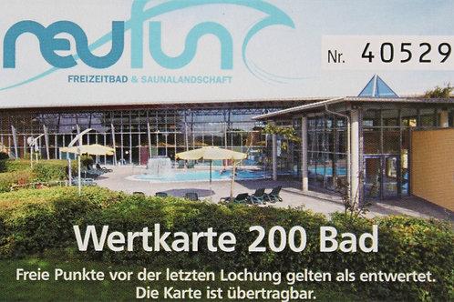 Wertkarte Bad / 200 Punkte