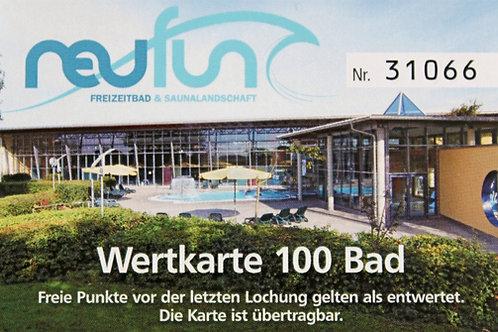 Wertkarte Bad / 100 Punkte
