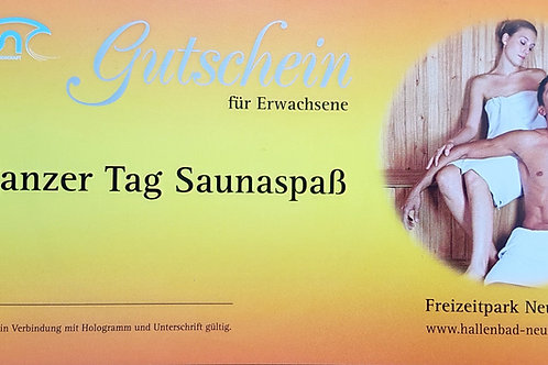 Gutschein Tageskarte Sauna Erwachsene