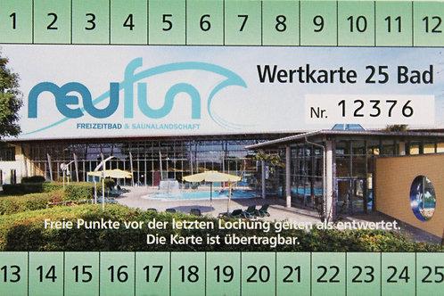 Wertkarte Bad / 25 Punkte