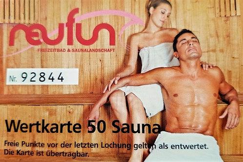 Wertkarte Sauna / 50 Punkte