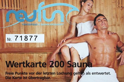 Wertkarte Sauna / 200 Punkte